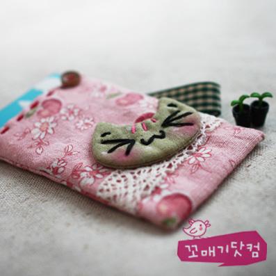 [DIY]리넨 플라워 캐시 카드지갑 만들기 패키지