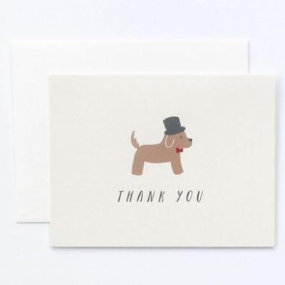 Fancy Dog Thank You Card