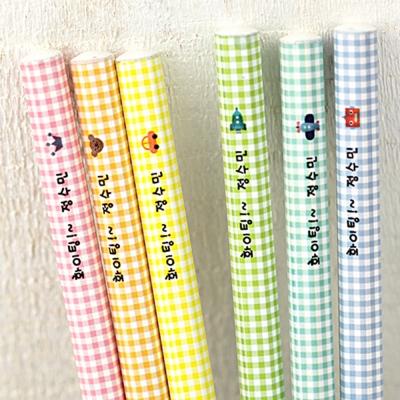 [주문제작]네임연필2B 6자루체크패턴