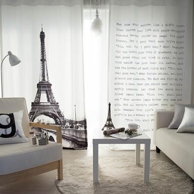 에펠탑 세미 암막커튼