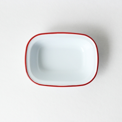 pie bowl - red