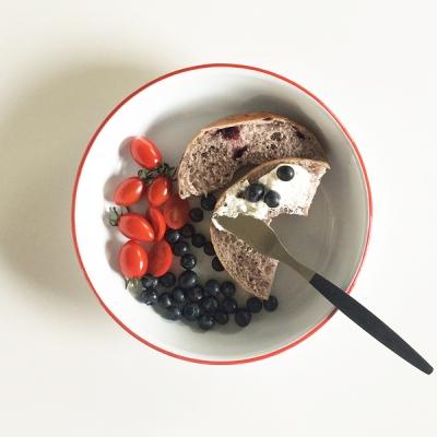 pasta bowl - red