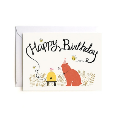 Happy Birthday Bear Card