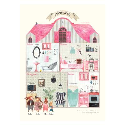 코니테일 포스터 - Rabbit`s house (아이방꾸미기 학습벽보)