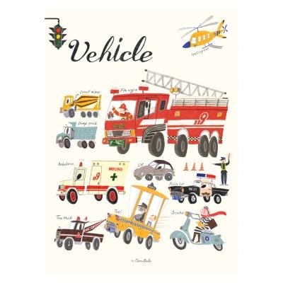 코니테일 포스터 - Vehicle (아이방꾸미기 학습벽보)