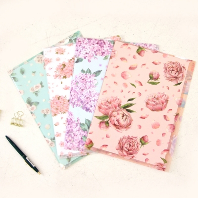 Floral File Folder(2 pockets)