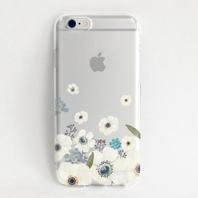 [white flower] 아이폰 투명젤리케이스
