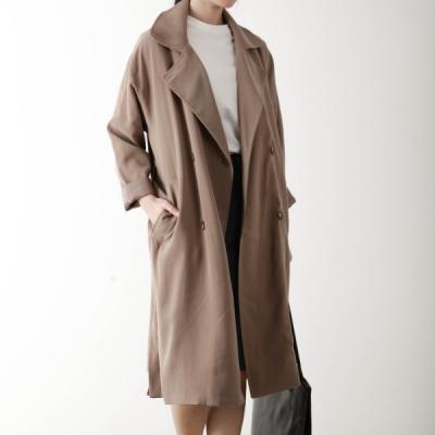 basic long trench coat