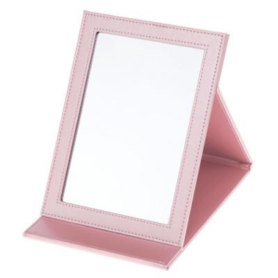 빠띠라인 PU접이식 탁상거울 핑크 YA01