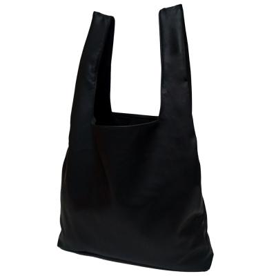 (깅엄버스)심플 레더백 블랙simpeul leather bag black