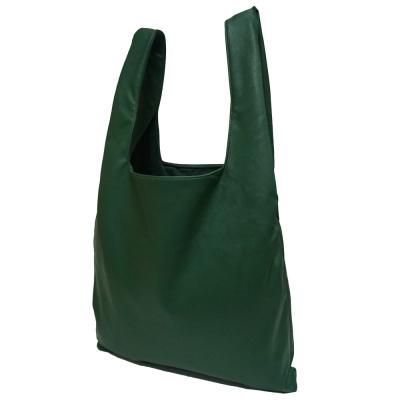 (깅엄버스)심플 레더백 그린simpeul leather bag green