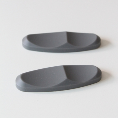 실리콘 수저받침 모던테이블 - 쿨그레이 4P세트
