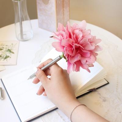 pink graceful peony flower pen