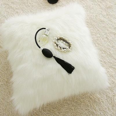 글램 화이트 fur 쿠션