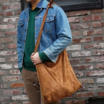 [깅엄버스]스웨이드 매듭백 카멜 suede knots bag camel