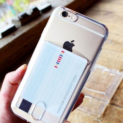 [LDU]클리어 카드수납 젤리케이스(아이폰6/6S플러스)