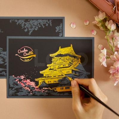 스크래치 엽서 체리블라썸_Scratch Postcard Cherry Blossom
