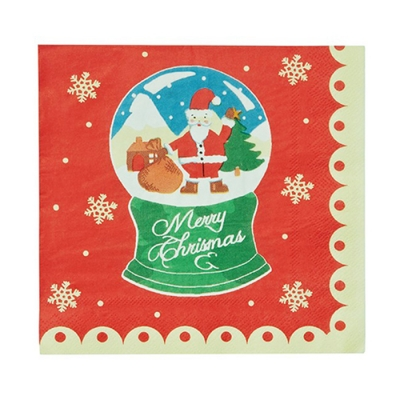 [울스터위버스]  Christmas Snow Globes 냅킨