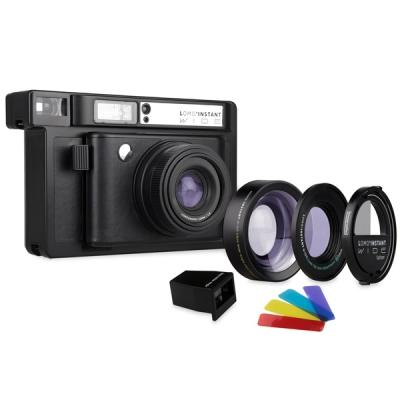 로모 인스턴트 와이드 카메라 - 블랙 렌즈팩