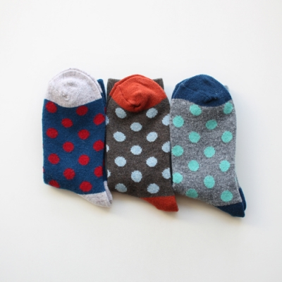 [1+1] dot wool socks