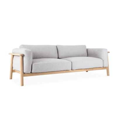 PLAIN SOFA 3SEATER LIGHT GREY