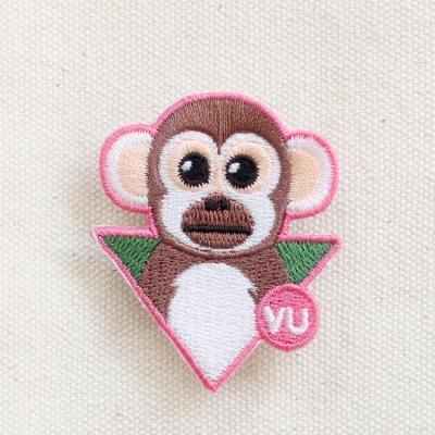 다람쥐원숭이 멸종위기동물 와펜브로치