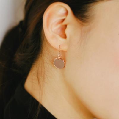 rose gold coin earring