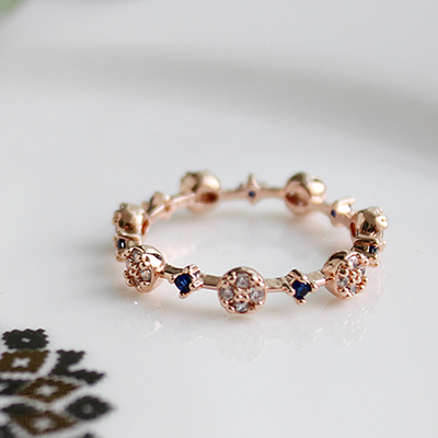 써클링 라인 반지(2colors)circling line ring