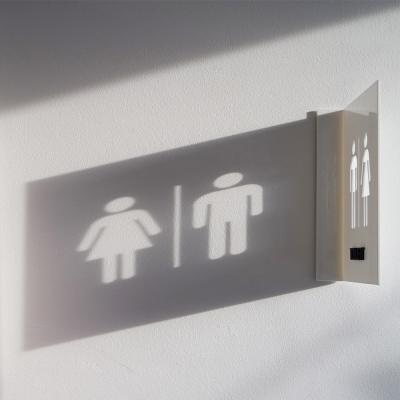 돌출 화장실표지판 Float