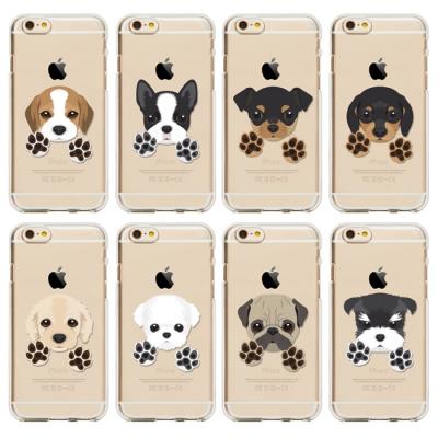 강아지 시리즈 [투명젤리케이스] 아이폰6/6S/6S+,갤럭시