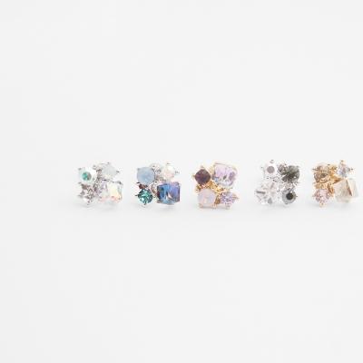[쥬디앤폴] 메르디 다양한 크리스탈이 셋팅된 피어싱 P40974