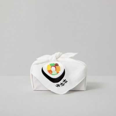 김밥 자수 손수건