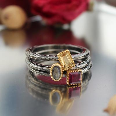 고져스 원석 블랙 반지(3types)gorgeous gems black ring