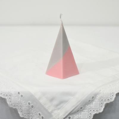오각뿔캔들 - grey x pink
