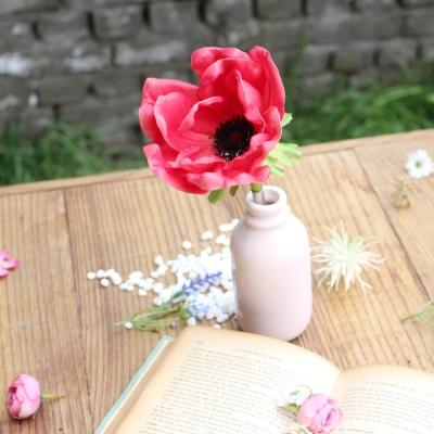 pink anemone flower pen