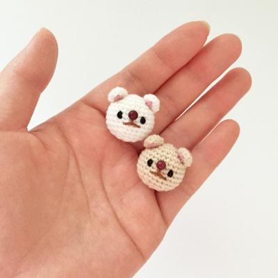 손뜨개 브로치, 뱃지 - 강아지 (진도개)