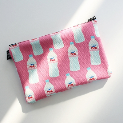 pink water pouch