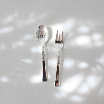 french tea spoon & fork