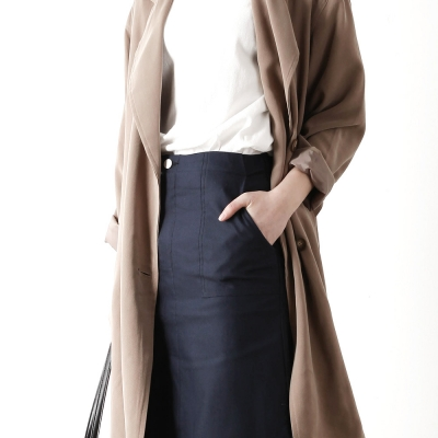 front slit h-line skirt