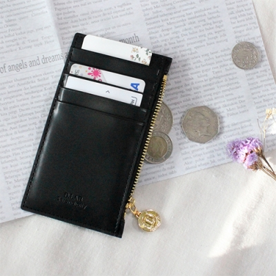 D.LAB Gato zipper wallet - Black