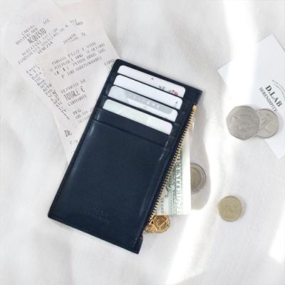 D.LAB Gato zipper wallet - Navy