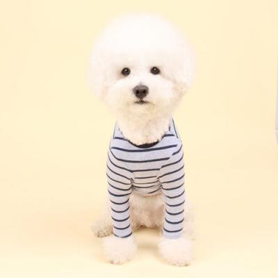 스트라이프티 (bokashi blue) Stripe T