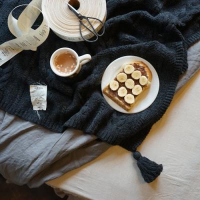 니트 태슬 러너 : knit tassel runner [3colors]