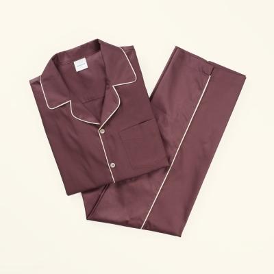 [closingment] pure cotton men's pajama set Marsala