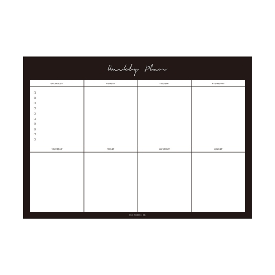 Weekly Planner Notepad - Black