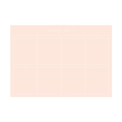 Weekly Planner Notepad - All Pink