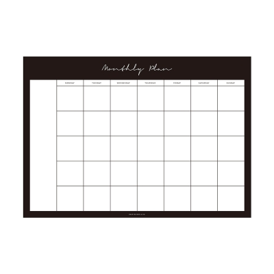Monthly Planner Notepad - Black