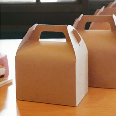 조각케익 돌떡박스 크라프트