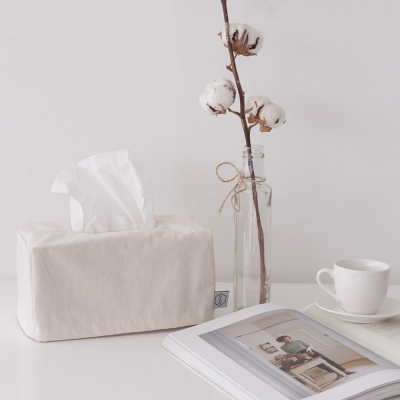 Solid natural tissue case _ Ivory