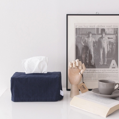 Solid natural tissue case _ Navy